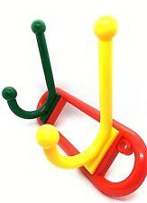 Hat And Coat Hooks Multi Coloured Double Funky Kids Door Hangers (580)