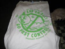 "Para Hombre XXXL Pokemon Go ""Zap em all"" camiseta blanca-nueva marca Heavy Cotton 100%"
