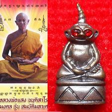 Phor Ngang Red Eye LP Seng Thai Amulet Occult Sorcery luck Wealth Love Charm #1