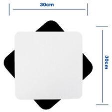 2x Piano superficie riflettente Set Fotografico bianco e nero foto anti riflesso