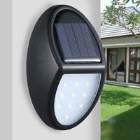 10 LED Solar Light Waterproof Wall Hanging Home Garden Fence Outdoor Lamp