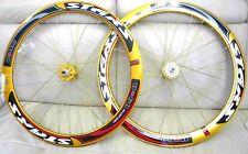 Stars Fixed Gear Track Road Bike 700c deep 50mm Wheels Sealed Bearing Gold