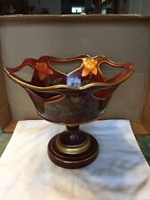 Vintage K.O.K. Ceramic Large Stemmed Fruit Bowl