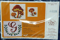 New Creative Circle Monogram Counted Cross Stitch Kit Waste Canvas Letter Flower