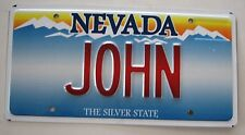 "NEVADA Vanity License Plate ""JOHN "" JON JOHNNY JOHNBOY ELTON OLIVIA NEWTON"