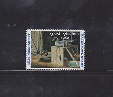 State Hunting/Fishing Revenues - WV - 1989 Duck Stamp Non-Res. WV-3A ($5) - MNH