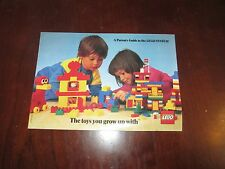 Lego System the Toys You Grow Up With 1985 Catalog Parents Guide Frank Druck