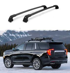 fits for Chevrolet Suburban 2021 2022 Cross bar crossbar roof Rail Rack black