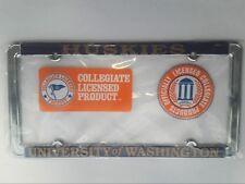 2 - University of Washington Huskies Metal License Plate Frame - Car Truck