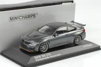 2016 BMW M4 GTS Mineralgrau metallic / Felgen grau 1:43 Minichamps NEU