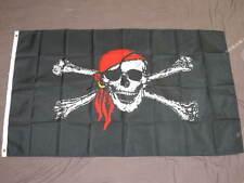 PIRATE FLAG 3X5 JOLLY ROGER BANDANA SKULL CROSSBONE F868