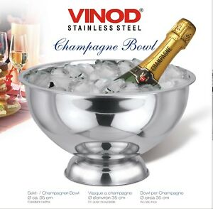 Stainless Steel Party Punch Bowl Champagne Wine Beer Cooler Ice Bucket Bowl