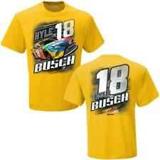 Kyle Busch #18 M&M's Racing Checkered Flag Camber Nascar Yellow Tee Adult XL