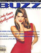 CINDY CRAWFORD Buzz Magazine 6/95 GOES HOLLYWOOD