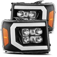 For 07-13 GMC Sierra 1500 2500 3500 HD Black Nova Series Projector Headlights