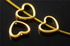 Wholesale 50pcs Heart Spacer Beads Rondelle Bead Jewelry Making Charms 11x12.5mm