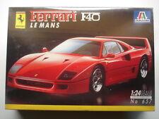 Italeri 1:24 Scale Ferrari F40 Le Mans Model Kit - New & Shrink Wrapped