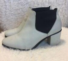Topshop Ankle Boots Cream Black Chelsea Booties Size 39 Eur
