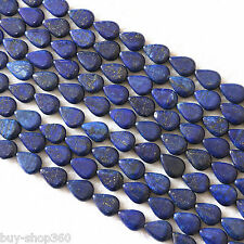 13x18mm Natural Lapis lazuli gemstone teardrop Gems Bead loose Beads 15""