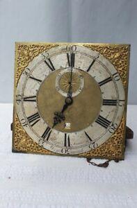 ANTIQUE BRASS 30 HOUR 12 INCH LONGCASE CLOCK DIAL MOVEMENT RALPH JONES DEN MEADE