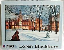 Loren Blackburn Evening Sleigh Ride Winter Jigsaw Puzzle 750pcs New & Sealed