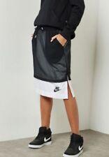 WOMENS NIKE NSW MESH SKIRT SIZE XS (848527 010) BLACK / WHITE