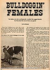 Rodeo's Bulldoggin Females 101 Ranch Index:Allen, Baldwin, Blanchett, Greenough,