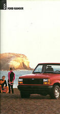 1991 FORD RANGER PickUp TRUCK Brochure: 4x4,SUPERCAB,XLT,STX,SPORT,CUSTOM,S,4WD