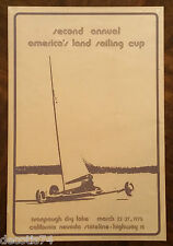 VINTAGE 1975 2nd ANNUAL AMERICA'S LAND SAILING CUP POSTER IVANPAUGH DRY LAKE