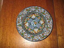 Rare Vintage Molinari Pesaro signed Majolica plate, Italy