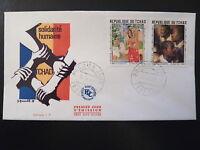 TCHAD  PREMIER JOUR  FDC    TABLEAUX GAUGUIN , RUBENS       2X1F      1969