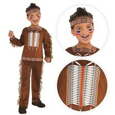 Boys Chief Native American Red Indian Wild West Book Week Fancy Dress Costume 8-10 Years 9902092