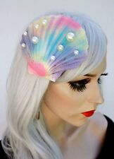 Big Shell Hair Clip Multi Colour Mermaid Fascinator Pearl Style Beads Kawaii Emo