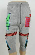 Bass By Ron Bass Gray 3/4 Sweat Pants, Leatherette Patches XL, Waist: 34-36""