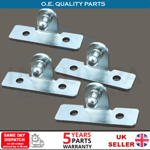 4X GAS STRUT FIXING FITTING BRACKETS WITH 10MM BALL PIN BOOT BONNET MULTI FIT
