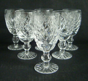 WATERFORD DONEGAL SIX SHERRY GLASSES
