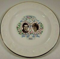 Prince Charles and Lady Diana Fine Earthenware Commemorative Plate