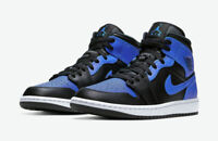 NEW WITH BOX Nike Air  Jordan 1 Mid Hyper Royal Grade School GS - 554725-077
