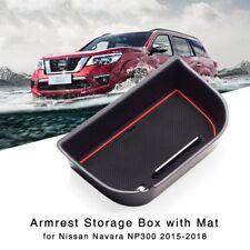 Armrest Storage Box for Nissan Navara NP300 2015-2018 Central Console Glove Tray