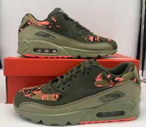 Nike Air Max 90 C Cargo Khaki Pink Running Shoes AH8440-300 Mens Size