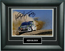 Ken Block Signed 8X12 Inches Ford Hoonigan Rallycross Photo Frame