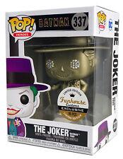 Funko Pop #337 Gold Metallic The Joker Batman Funhouse Custom Exclusive 1/10