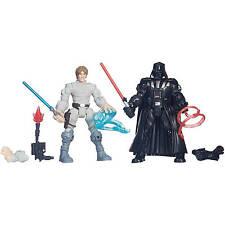 Star Wars Hero Mashers Battle Pack Luke Skywalker Darth Vader Figures UK Seller