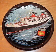 ancienne assiette décorée souvenir paquebot france