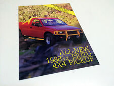 1988 1/2 Isuzu 4x4 Pickup Preview Brochure