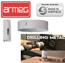 BI METAL HOLE SAWS FOR METAL STEEL ALUMINIUM OPT SIZES /& ARBOURS 16-152 MM