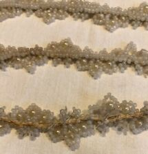 Antique White Glass Bead Faux Pearl Wedding Veil Dress Trim Embellishment