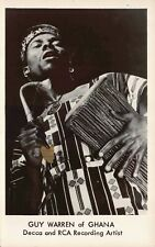 Real Photo Postcard Guy Warren of Ghana Decca & RCA Recording Artist~130175