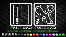 Fast car or fast driver JDM Auto Car Tuning Sticker Aufkleber 16cm x 9cm