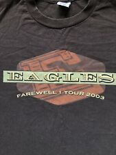 Vintage Eagles North American Farewell I Tour 2003 T Shirt Xl